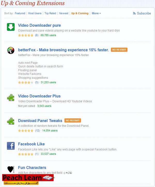 10 آموزش نصب افزونه و Add-Ons  در مرورگر Mozilla Firefox
